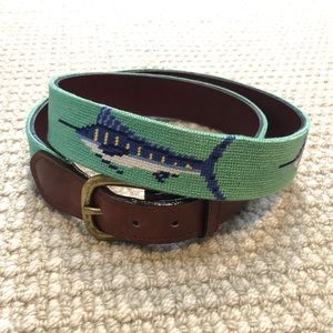 Smathers & Brandon needlepoint belt, size 38